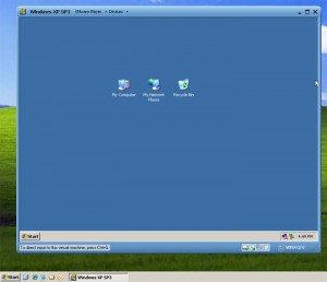 Windows XP in VMware Player