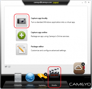 Cameyo: application virtualization