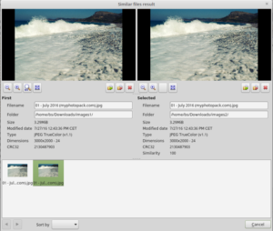 XnView: duplicate image finder